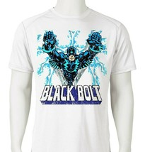 Black Bolt Dri Fit graphic T-shirt moisture wicking retro superhero  SPF tee image 1