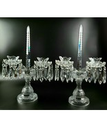 Vintage Waterford Crystal Double Arm Candelabra with Prisms - Set of 2  - $950.00
