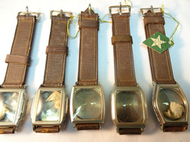 NOS STAR WHITE 10KT GOLD PLATED ART DECO WATCH CASES & BANDS FOR YOUR MO... - $459.57