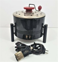 Electric Popcorn Maker Hand Crank Electrex Corn Popping Machine Untested - $16.98