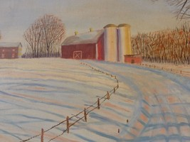 """Mid-Century American Oil Painting """"West Oak Hill"""" Signed C. Torrance, 1958 - $199.00"""