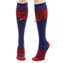 Harley Quinn Knee High Socks SUICIDE SQUAD Lace Up Socks - $8.49