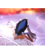Haunted RING RAVEN SPIRIT TRANSFORMATION MAGICK VESSEL MAGICK 925 WITCH ... - $77.77