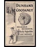 Terrier Puppy AD 1888 Dunhams Cocoanut Modern Billboard Food Advertising... - $14.99