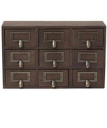 Wood Imported Rustic Table Top Cabinet Wooden Desktop Solid Wood Apothec... - $69.64