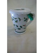 Pfaltzgraff Tea or Coffee Mug with Strainer and Lid Winterberry Pattern - $29.70