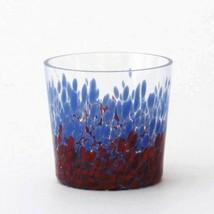 Japanese Whiskey Rock Glass Uekoshi Crystal Iro Bird Rock Blue Red Japan - $54.82