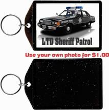 1984 Ford Ltd Sheriff Patrol Photo KEYCHAIN-FREE Usa Ship - $11.87