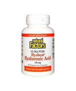 Natural Factors Hyabest Hyaluronic Acid, 60 Vegetarian Capsules - $34.97