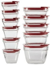 Rubbermaid Easy Find Lids Glass Food Storage Container, 22-piece Set, Red - €63,87 EUR