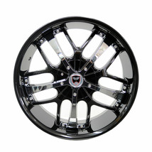 4 Gwg Wheels 18 Inch Black Chrome Savanti Rims Fits Ford Mustang Gt 2013 - 2018 - $599.99