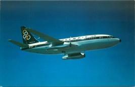 Olympisch Airways Airlines Ausgegeben Boeing 737-200 Postkarte - $6.49