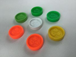 Fisher Price Coins 7pc Lot For Waitress Tray Coin Dispenser Vintage 1984 image 5