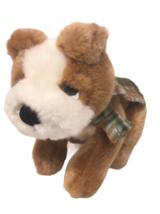 Russ Puppy Dog Plush Tan Brown White Retriever Bean Bag Stuffed Animal S... - $18.00
