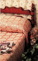 3X  From The Past Flower Doily Motif Bedspread Log Cabin Afghan Crochet Pattern image 2