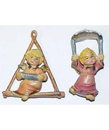 Small Vintage ANGEL CHRISTMAS ORNAMENTS - Made in ITALY - $12.00