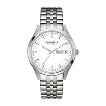 Caravelle 43N104 Women's Silver Steel Bracelet with White Analog Dial Watch - $38.35