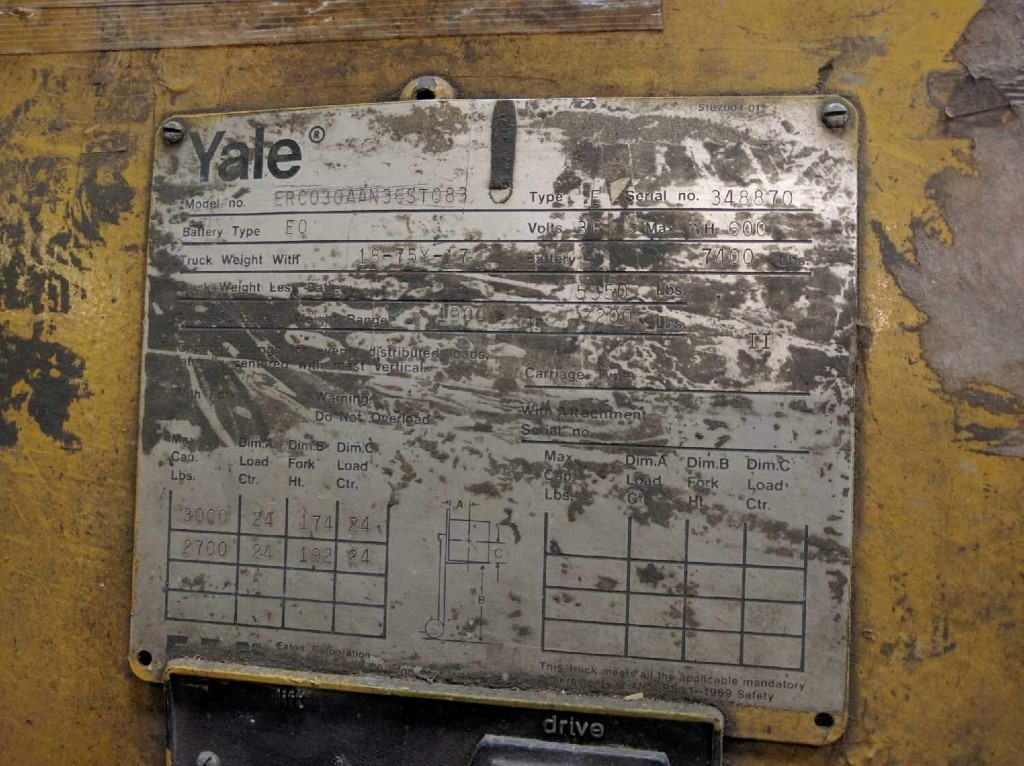 Yale Forklift and 29 similar items