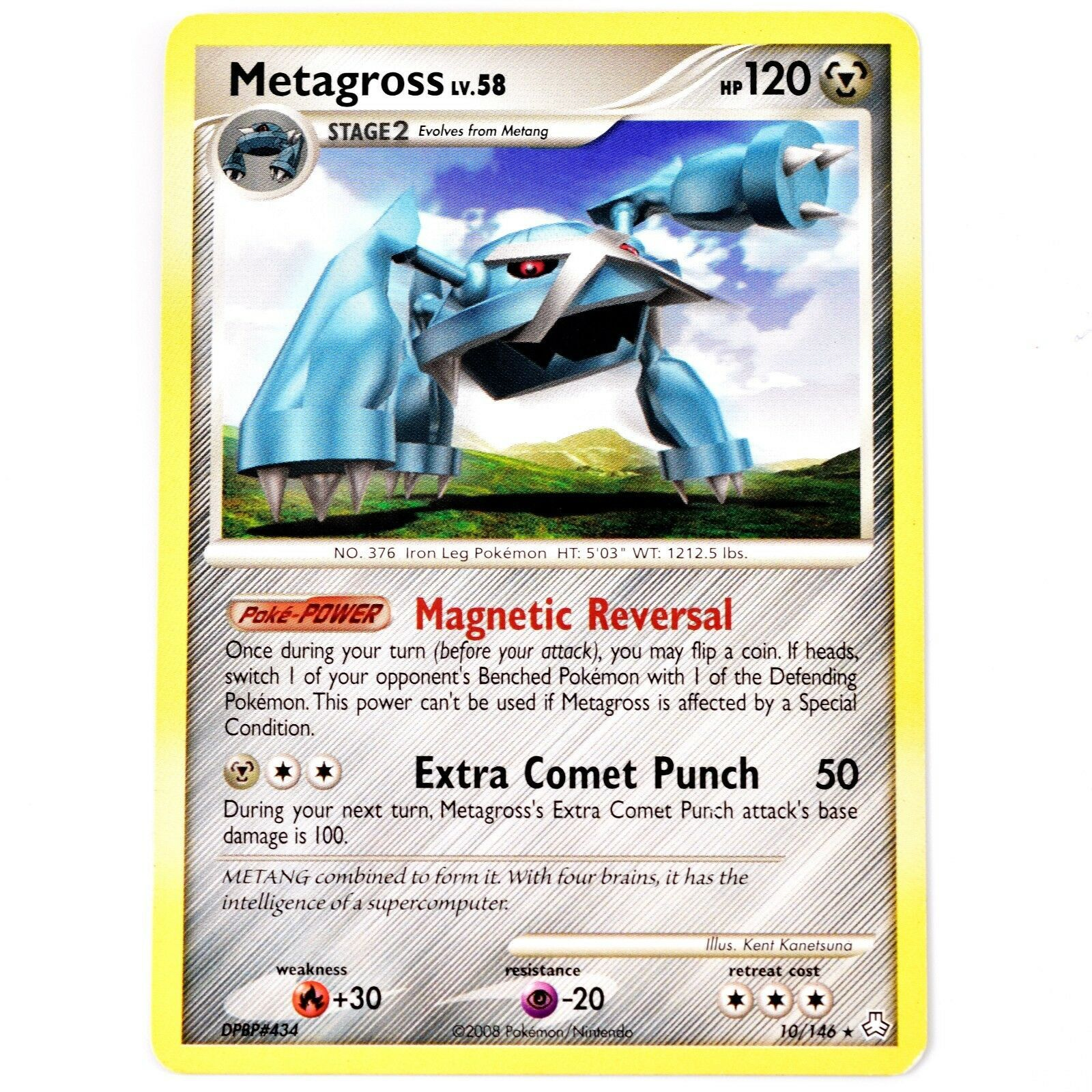 Pokemon TCG Metagross 10/146 Legends Awakened Series Trading Card