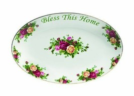 """Royal Albert Old Country Roses """"Bless This Home"""" Platter  12-Inch NEW - $48.50"""