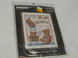 Janlynn Cross stitch #78-4 Beary Welcome RARE vintage kit set craft NOS ... - $11.13