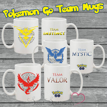 Pokemon Go Mug Team Instinct, Team Valor, Team Mystic - Fast & Free Ship... - $8.61
