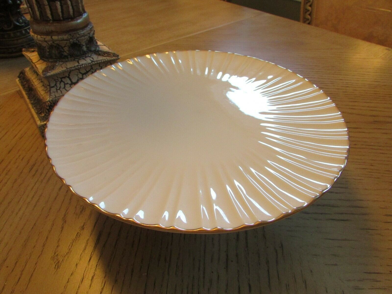 """LENOX CHINA FOOTED CAKE PLATE PLAZA COLLECTION 10.75"""" MADE IN USA  image 2"""