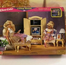 VINTAGE BARBIE FOLDING LIVING ROOM BRAND NEW IN BOX-COMPLETE UNPLAYED WI... - $118.75