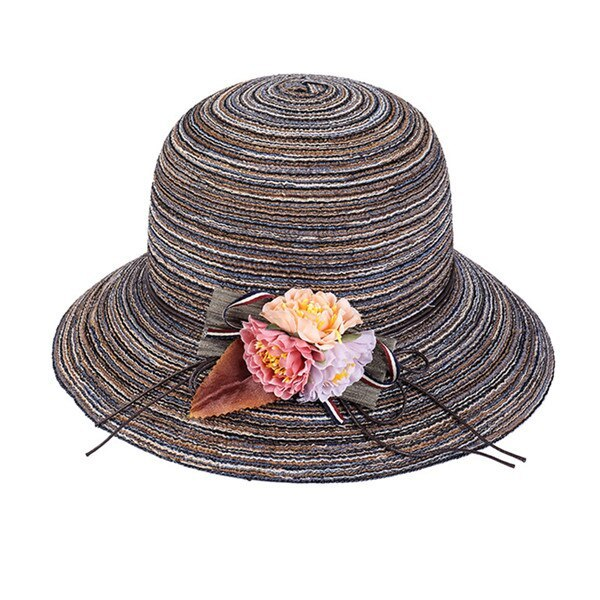 K Summer Floppy Straw Hat Women Ladies Wide Brim Beach Hat Sun Foldable Cap Fema image 4