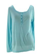 Gilligan & O'Malley Women's Blue Long Sleeve Sleep Shirt Size XS - $9.90