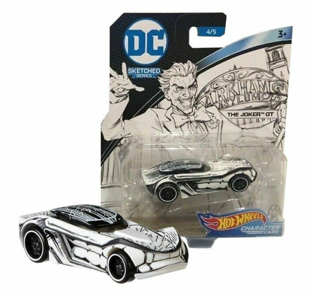 Hot Wheels DC Sketched Series The Joker GT Character Car 4/5 Mattel New Sealed - $9.39