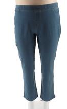 Denim & Co Petite Straight Jeans Cargo Pocket Antique Wash 20P NEW A309545 - $27.70