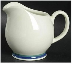 Pfaltzgraff NORTHWINDS Large Gravy Boat Pitcher Stoneware Blue Green 20 oz Disc - $28.04
