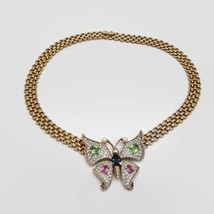 Vintage Panetta Sparkling Pave Rhinestone Butterfly Necklace  - $276.45