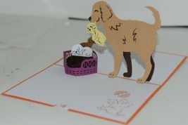Lovepop LP1535 Dog Family Pop Up Card White Envelope Cellophane Wrapped image 3