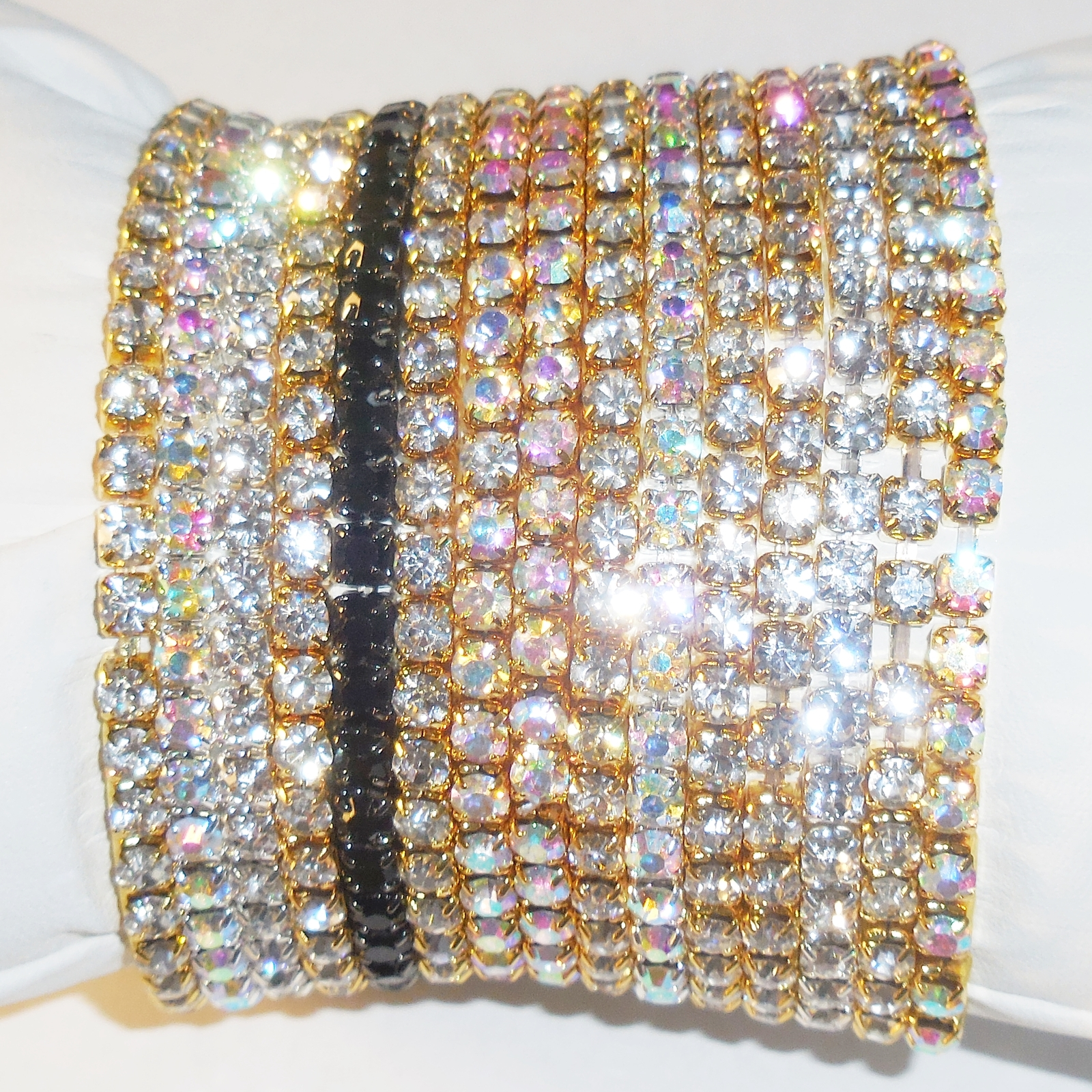 Stretch Crystal Bracelet, Stretch Rhinestone Bracelet, 3pk Stretch Cupchain