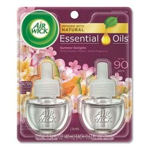 Air Wick Life Scents Scented Oil Refills, Summer Delights, 0.67 Oz, 2/Pack, 6 Pa