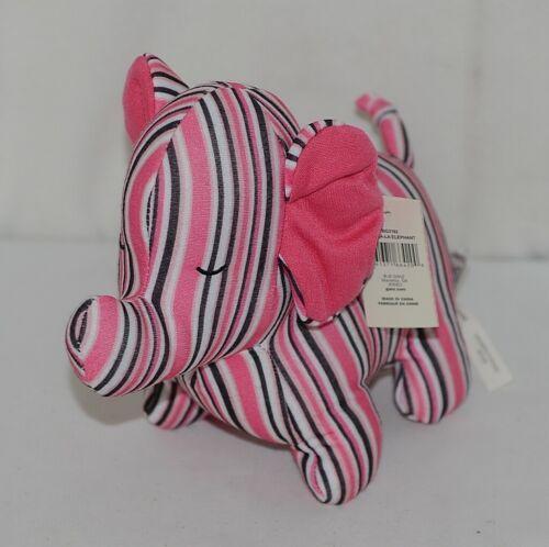 Baby Ganz Brand BG3192 Pink Brown Striped Ooh La La Plush Elephant