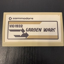COMMODORE VIC 20 Garden Wars tested video game cartridge cart arcade act... - $9.99