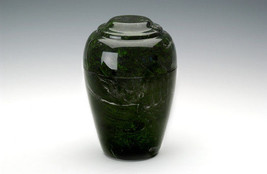 Large Grecian Marble Verde Adult Funeral Cremation Urn, 190 Cubic Inches - $194.99