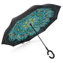 Inverted Umbrella Double Layer Windproof UV Protection Reverse Folding C... - $79.49 CAD
