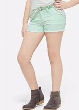 Justice Girl's Size 6 Slim Color Denim Short Shorts in Mint Green New with Tags - $17.81