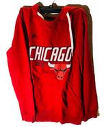Adidas Damen Chicago Stier Distressed Rücken Logo Kapuzenpullover Rot - $28.43