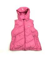 VINTAGE Fila Vest Puffer Jacket Women's Size Small S Pink Full Zip Hoodi... - $21.87