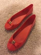 Authentic TORY BURCH  Flat Shoes Orange Ballet Slip On - $74.79