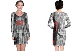 Long Sleeve Night Dress  Godzilla  Monster - $23.99+
