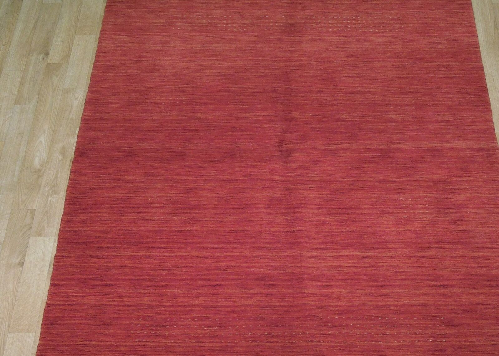 5' x 7' Shades of Red Soft Modern Red Gabbeh Wool Hand-Knotted Rug image 2