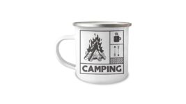 Camping Enamel Mug Hunting 12oz Camper Mug - $17.95