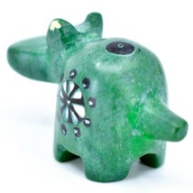 Tabaka Chigware Hand Carved Kisii Soapstone Green Hippopotamus Hippo Mini Figure image 2