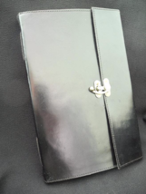 A4 Handmade Black Leather Sketchbook Journal - Pages of DECKLED Cotton P... - $70.00